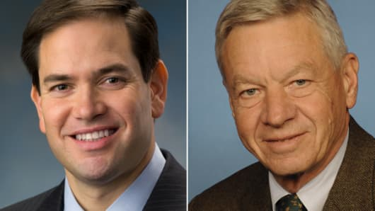 From left: Marco Rubio and Tom Petri