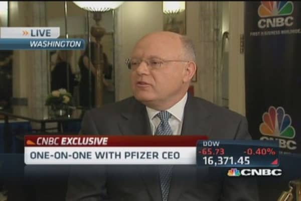 Pfizer CEO worries about ACA coverage