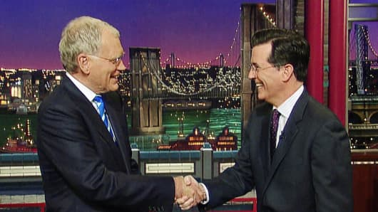 File photo from May 4, 2011. Stephen Colbert to succeed David Letterman on the Late Show.