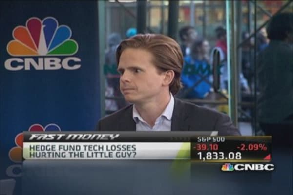 Hedge fund tech losses hurting the little guy?