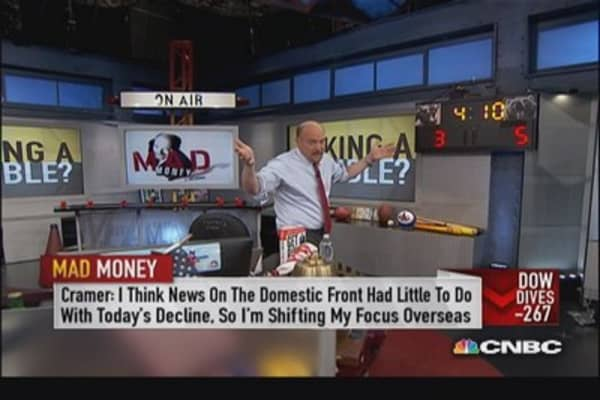 Cramer looks overseas to make sense of sell-off