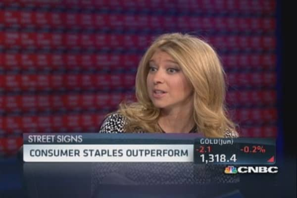 Consumer staples outperform broad markets
