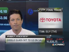 Fast Money Final Trade: TM, GLNG, YHOO, BIIB