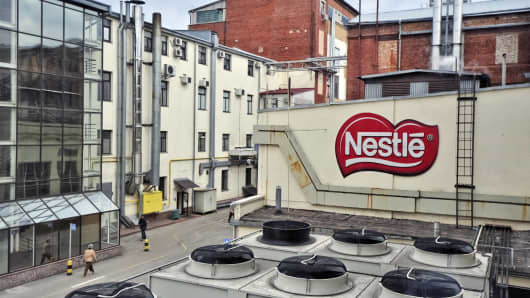 Nestle's Svitoch factory in Lviv, Ukraine