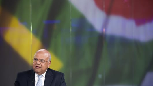 South African Finance Minister Pravin Gordhan