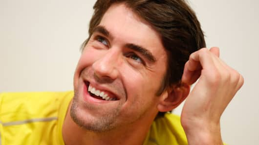 Swimmer Michael Phelps attends a Subway press conference, December 04, 2013 in Sao Paulo, Brazil.