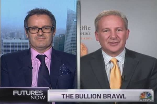 Peter Schiff and Paul Krake's gold feud