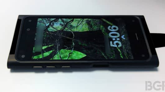 Amazon is rumored to be working on a 3-D smartphone, seen in this photo obtained by BGR.
