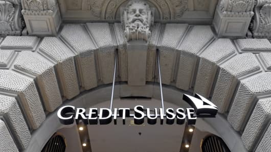 Credit Suisse headquarters on Paradeplatz in Zurich, Switzerland