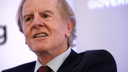 John Sculley, former chief executive officer of Apple Inc., speaks at Bloomberg Government's 'Mind The Gap: Connecting Health Care Policy with Next Century Innovation' conference in Washington, D.C., U.S., on Tuesday, Nov. 5, 2013.
