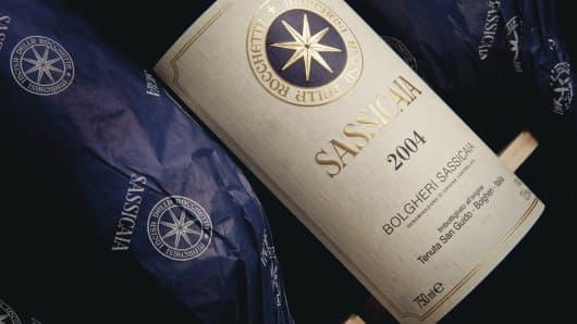 12 bottles of Sassicaia 2004