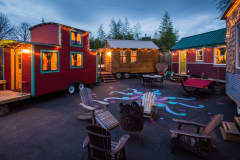 The Tiny House Hotel in Portland, Ore., allows guests to try out living in a small self-contained home.
