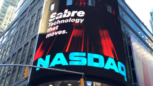 Sign for Sabre IPO on Nasdaq board