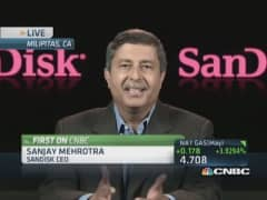 SanDisk soars on earnings