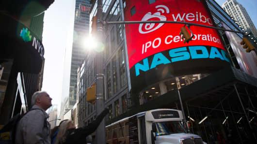 The Nasdaq MarketSite in New York on April 17, 2014.