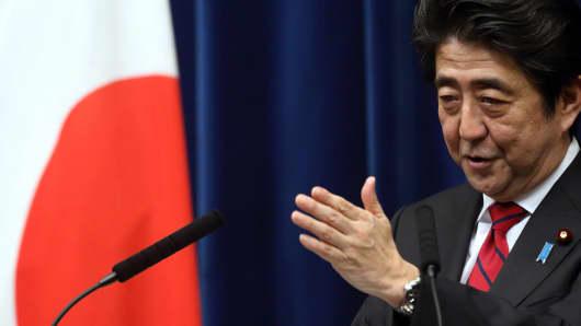 Japanese Prime Minister, Shinzo Abe.