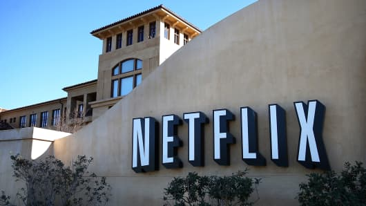 Netflix headquarters in Los Gatos, California.