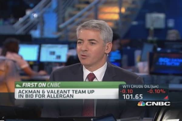 Ackman: Allergan clear fit for Valeant