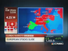 European markets close: Record euro zone debt