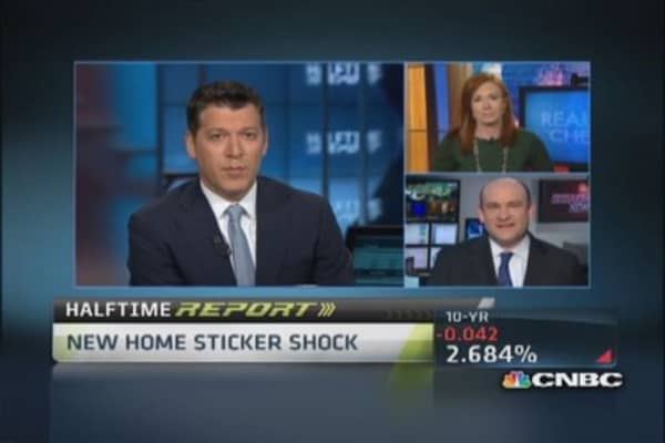 Sticker shock slams new home sales