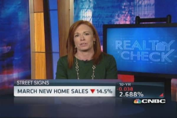 Sticker shock lowers new home sales