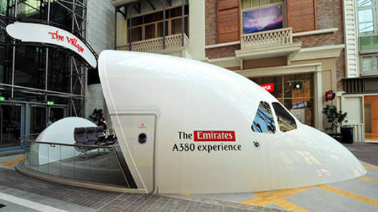 Emirates Airlines Flight Simulator at Dubai mall