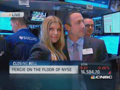 Fergie on NYSE floor