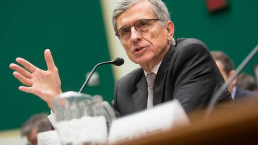 Thomas 'Tom' Wheeler, chairman of the Federal Communications Commission, speaks during a House Energy and Commerce Subcommittee hearing in Washington.
