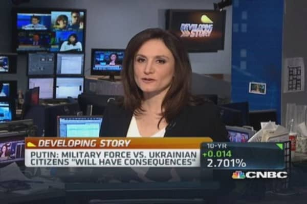Putin: Ukraine military force will have consequences