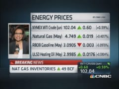 Nat gas inventories up 49 bcf