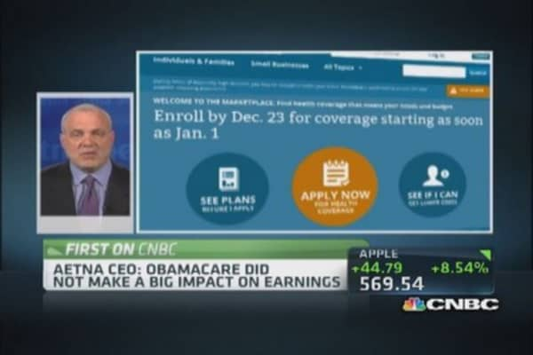 Aetna CEO: Obamacare's impact on earnings