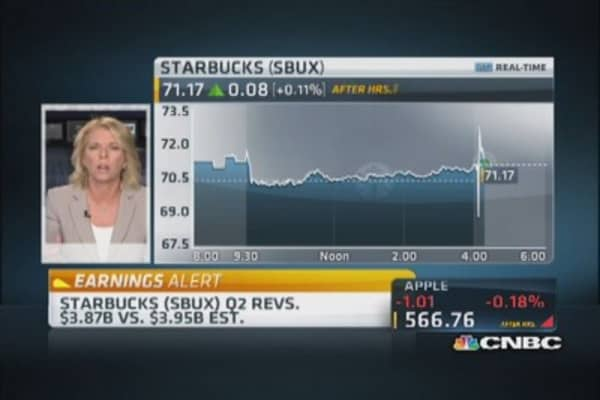 Starbucks Q2 earnings in line