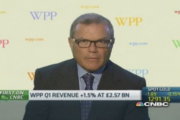 Sterling strength 'biggest short-term issue': WPP CEO