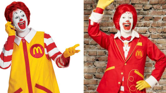 Ronald McDonald: Out with the old, in with the new...