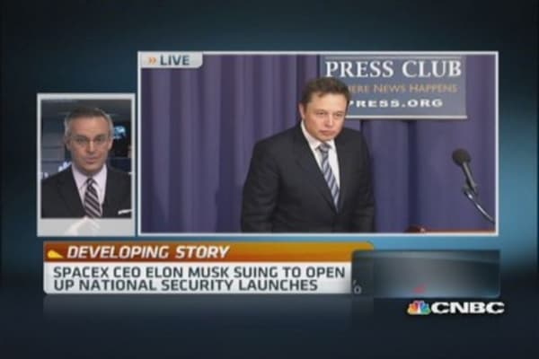 SpaceX CEO Elon Musk suing to open up launches
