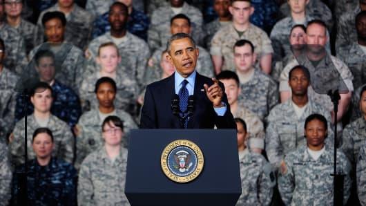U.S. President Barack Obama at Yongsan Army Garrison on April 26, 2014 in Seoul, South Korea.