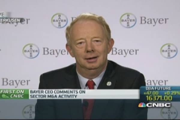 Keeping eye out, but don't feel need for M&A: Bayer CEO