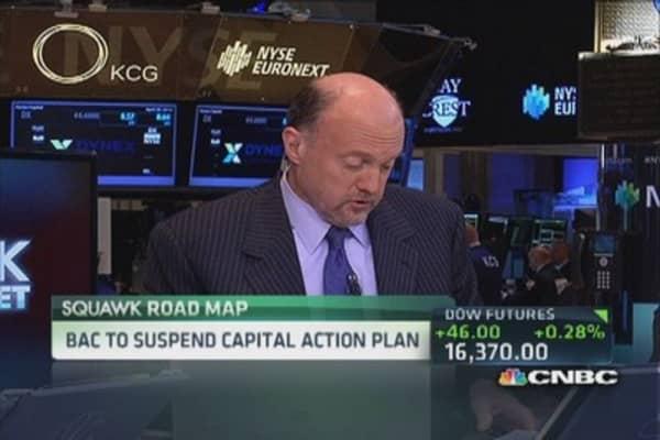 Jim Cramer: BofA's botched dividend plan a 'disgrace'