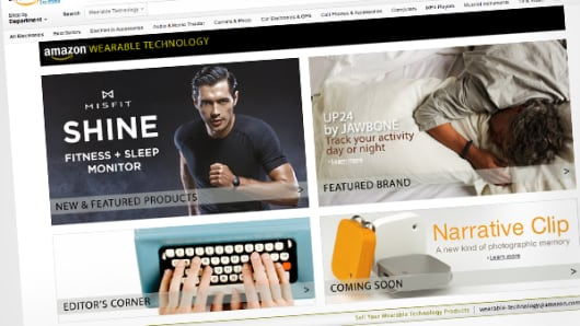 Amazon.com Wearable Technology page