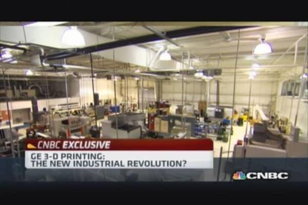 GE 3-D printing: New industrial revolution?