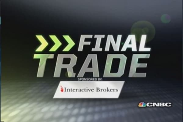 Fast Money Final Trade: AAPL, GLD, AMZN, XOM
