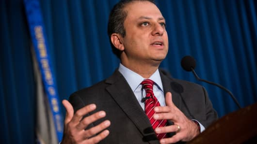 Preet Bharara, United States attorney for the Southern District of New York.
