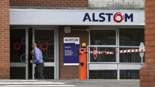 An Alstom SA's power plant turbine refurbishment facility in Rugby, U.K.