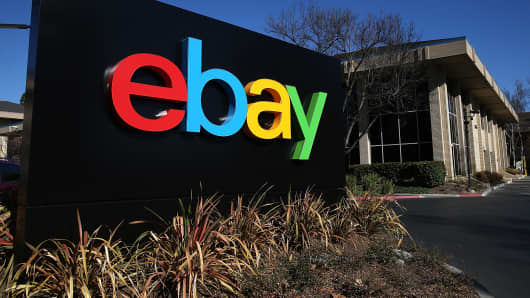 EBay headquarters in San Jose, Calif.