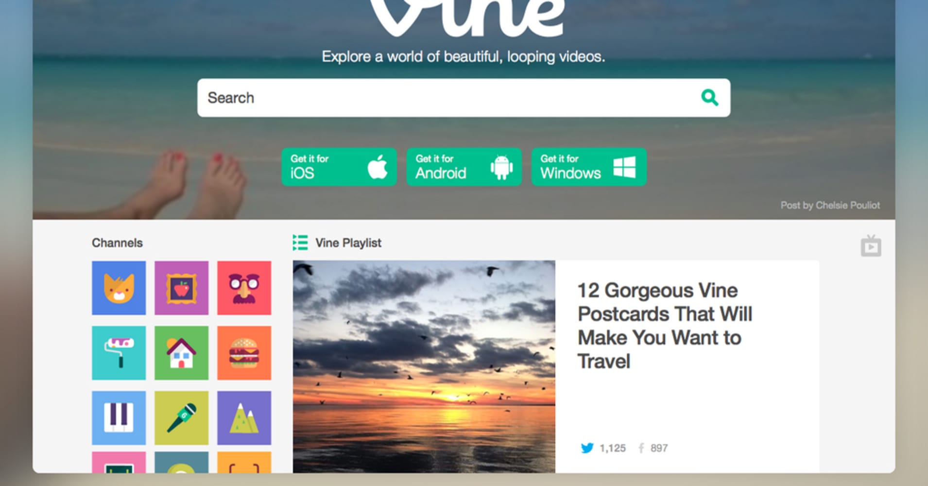 Video-sharing app Vine sees a desktop future