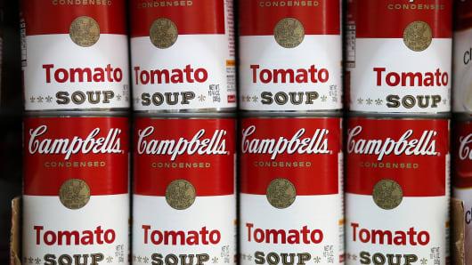 Campbell's tomato soup is displayed at Santa Venetia Market on May 20, 2013, in San Rafael, California.