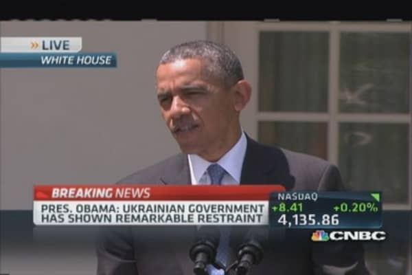 US 'only interest' for Ukraine to make own decisions: Obama