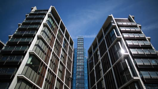 A new luxury penthouse development at One Hyde Park in London.