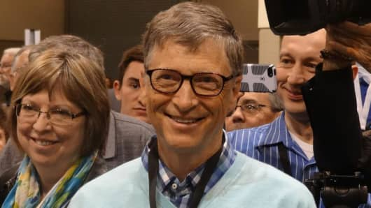 Bill Gates at the Berkshire Hathaway Annual Shareholder's Meeting in Omaha, Nebraska.