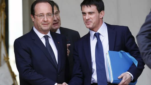 Francois Hollande and Manuel Valls